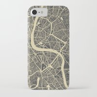 london map iPhone & iPod Cases featuring London map by Map Map Maps