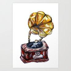 Music is everywhere Art Print