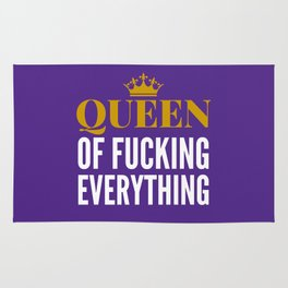 QUEEN OF FUCKING EVERYTHING (Purple) Rug