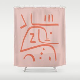 Modern poster Paul Klee - In Memoriam, 1938. Shower Curtain