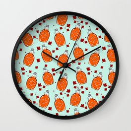 Super Canadian Maple Syrup Pattern Wall Clock