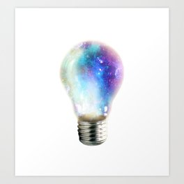 Light up your galaxy Art Print