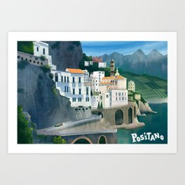 Positano Day Art Print