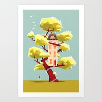 The treehouse in my dream Art Print