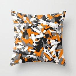 Urban alcohol camouflage Throw Pillow