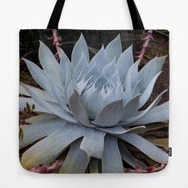 Ice Blue Cactus Tote Bag