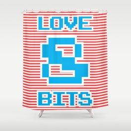 Love 8 Bits, Shower Curtain