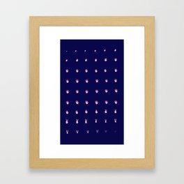 Hand turkey motion sequence Framed Art Print