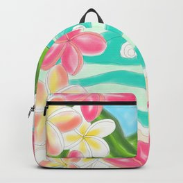 Plumeria ocean view Backpack