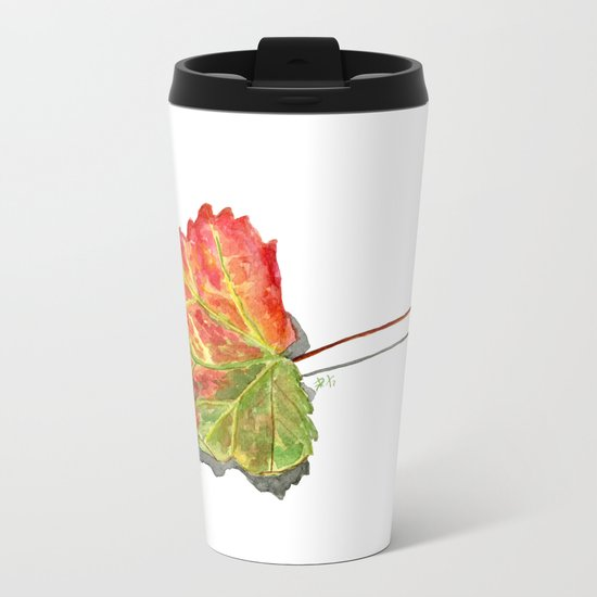 Autumn leaf of maple Metal Travel Mug