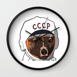 The first dog in space Laika Wall Clock