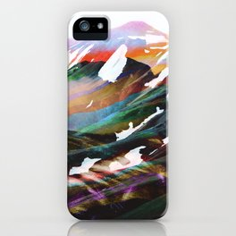 Abstract Mountains II iPhone Case