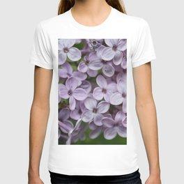 Close Up Of Persian Lilac Blossom T-shirt
