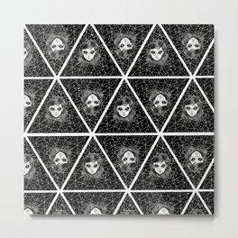 Pattern Ovni Girl Metal Print