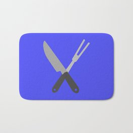 knife and fork Bath Mat