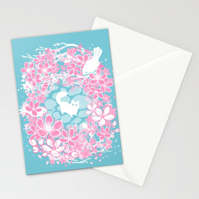 Spring Greeting Stationery Cards