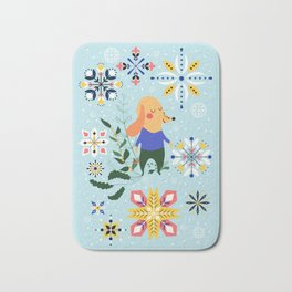 Happy Dog Card Bath Mat