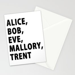IT Security Cyber Security Alice Bob Hacker Stationery Cards