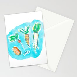 Root Veggies Stationery Cards