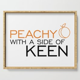 Peachy Keen Serving Tray