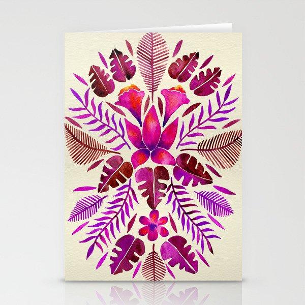 Tropical Symmetry – Magenta Stationery Cards