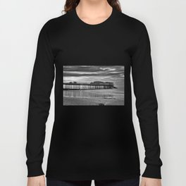 Cromer Pier in black and white Long Sleeve T-shirt