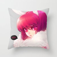 barachan Throw Pillows featuring synthetic by barachan