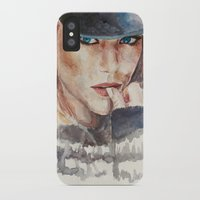 emma stone iPhone & iPod Cases featuring Emma Stone, blonde by xDontStopMeNow