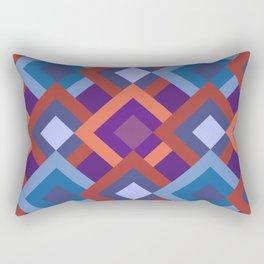 Purple Diamond Shade Geometric Patterns Rectangular Pillow