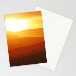 Golden morning in Africa Stationery Cards