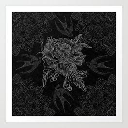 Messy flower Art Print