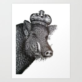 The Boar King Art Print