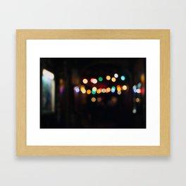 Berlin Bokeh Framed Art Print