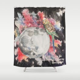Sylvester Goes to the Moon Shower Curtain