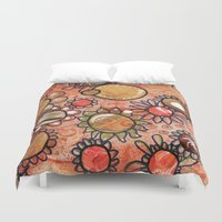 brown Duvet Covers featuring brown by Kras Arts - Fly Me To The Moon