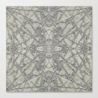 snowflake Canvas Prints featuring Snowflake  by Project M