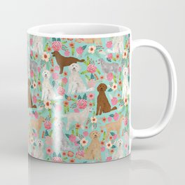 Golden Doodle golden retriever poodle mixed breed custom dog art pet portrait must have dog gifts Coffee Mug