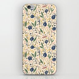 Pale Ditsy Rose Meadow Floral Pattern iPhone Skin