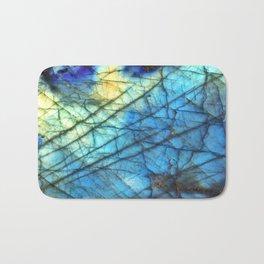 Royal Labradorite Crystal Agate Gemstone Print Bath Mat