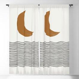 Moon by the ocean Blackout Curtain