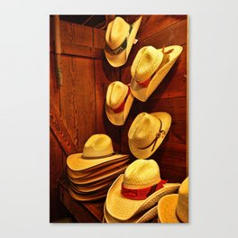 Luckenbach Hats Canvas Print