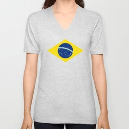 Brazil Flag Graphic Design Unisex V-Neck