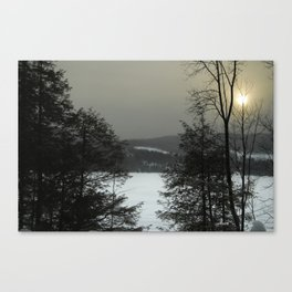 Early Winter Morning On The Lake Canvas Print