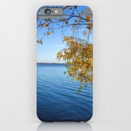 Autumn Lake Landscape #decor #society6 #buyart iPhone Case