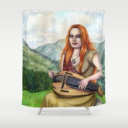 The Song Of The Mountains Shower Curtain