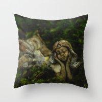 fairy Throw Pillows featuring Fairy by Mark Spence