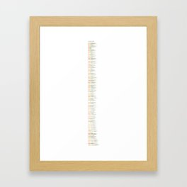 Base Stats - Kanto Region Framed Art Print