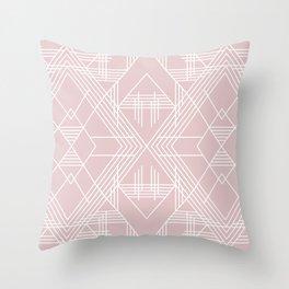 Illuminati Pink Throw Pillow