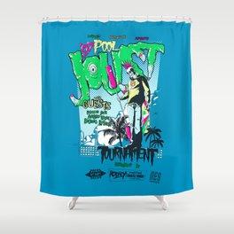 Joust or Die Shower Curtain
