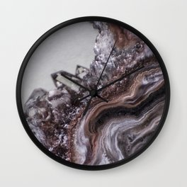 Tiny Agate and crystals Wall Clock